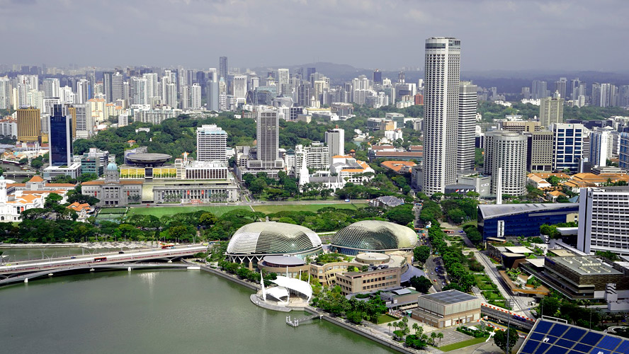 Singapore green urban area