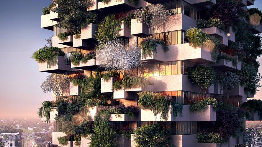 Stefano Boeri Architetti Eindhoven Trudo Tower facade