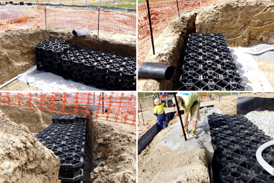 stratacell installation - Northshore project